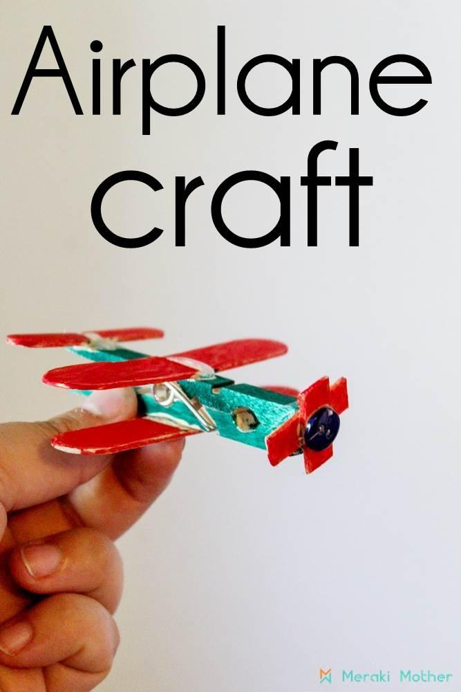 airplane craft for preschooler