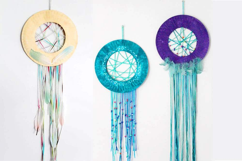 Learn how to make your own paper plate dream catcher craft for kids