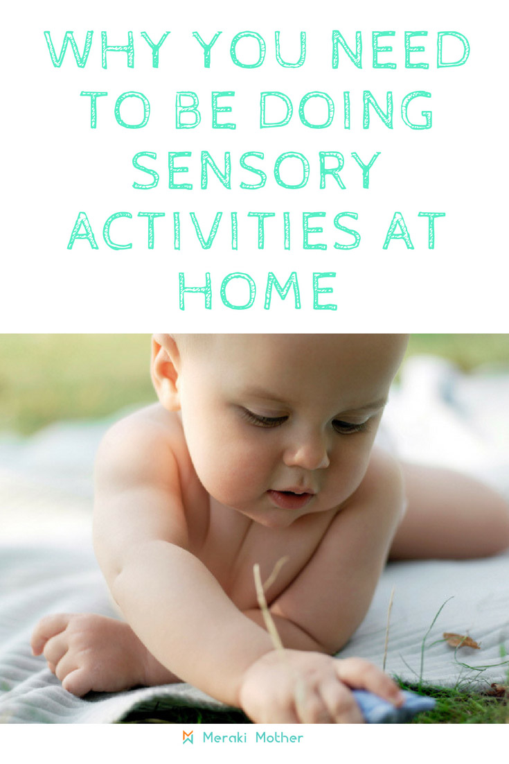 Ideas for sensory activities at home