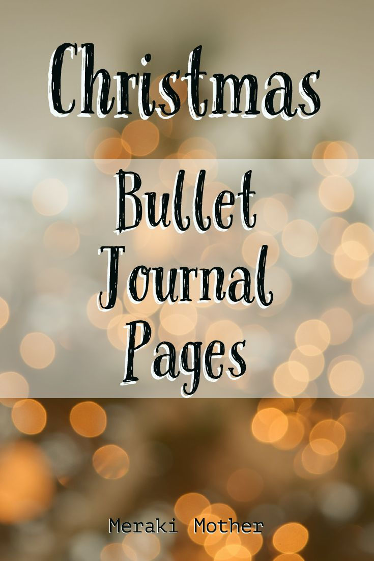 christmas pages for bullet journals