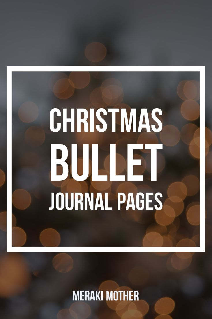bullet journal theme Christmas