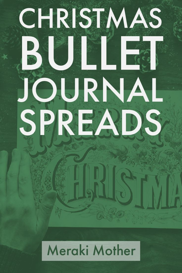 bullet journal christmas spreads