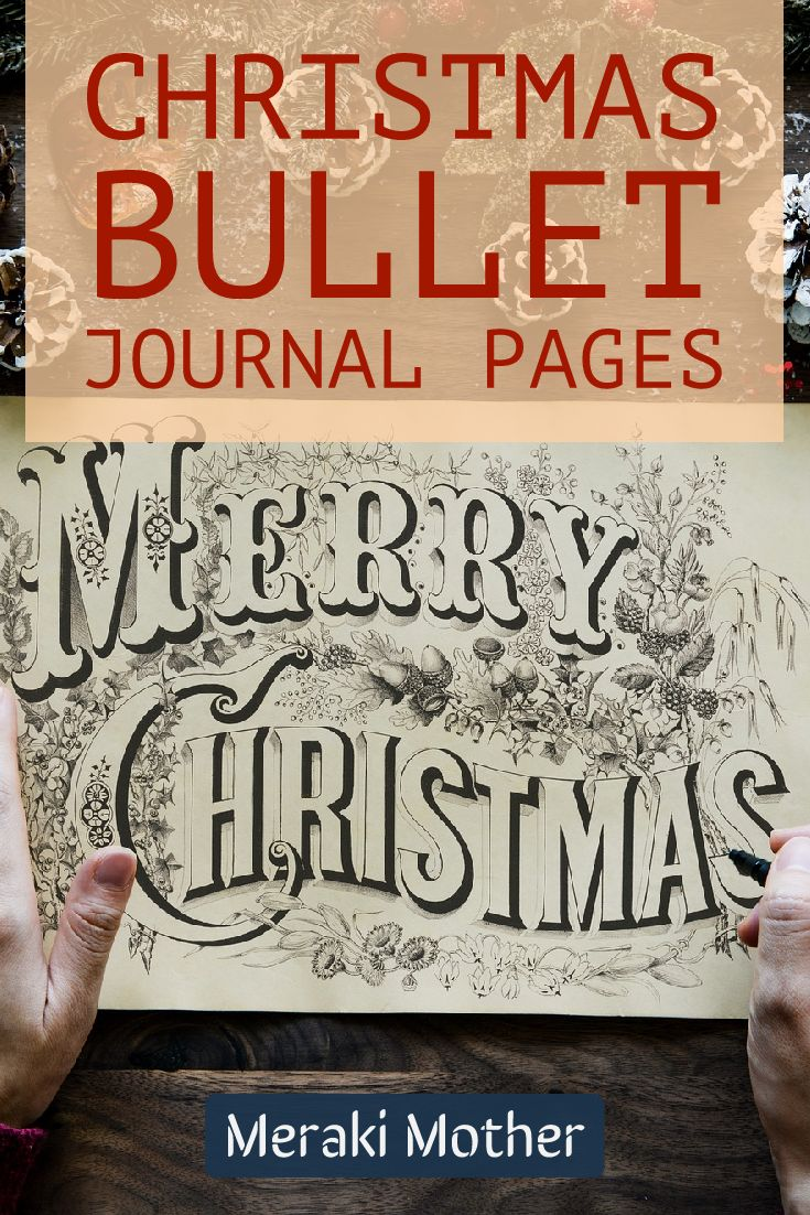 bullet journal Christmas pages