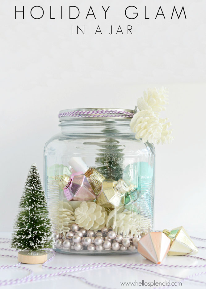 Holiday mason jar gift