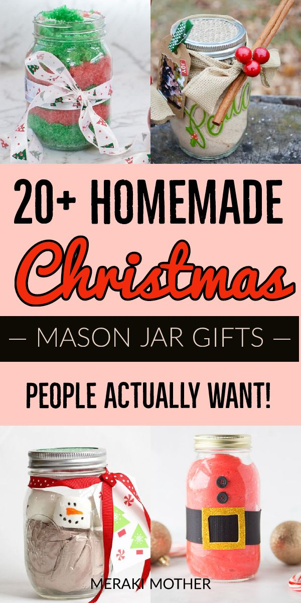 homemade mason jar gifts