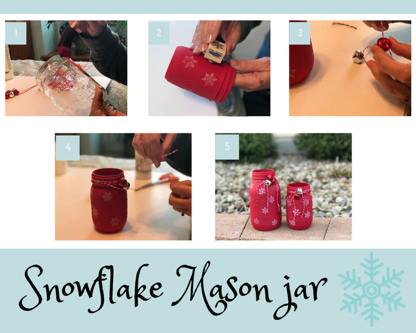 decorate a mason jar