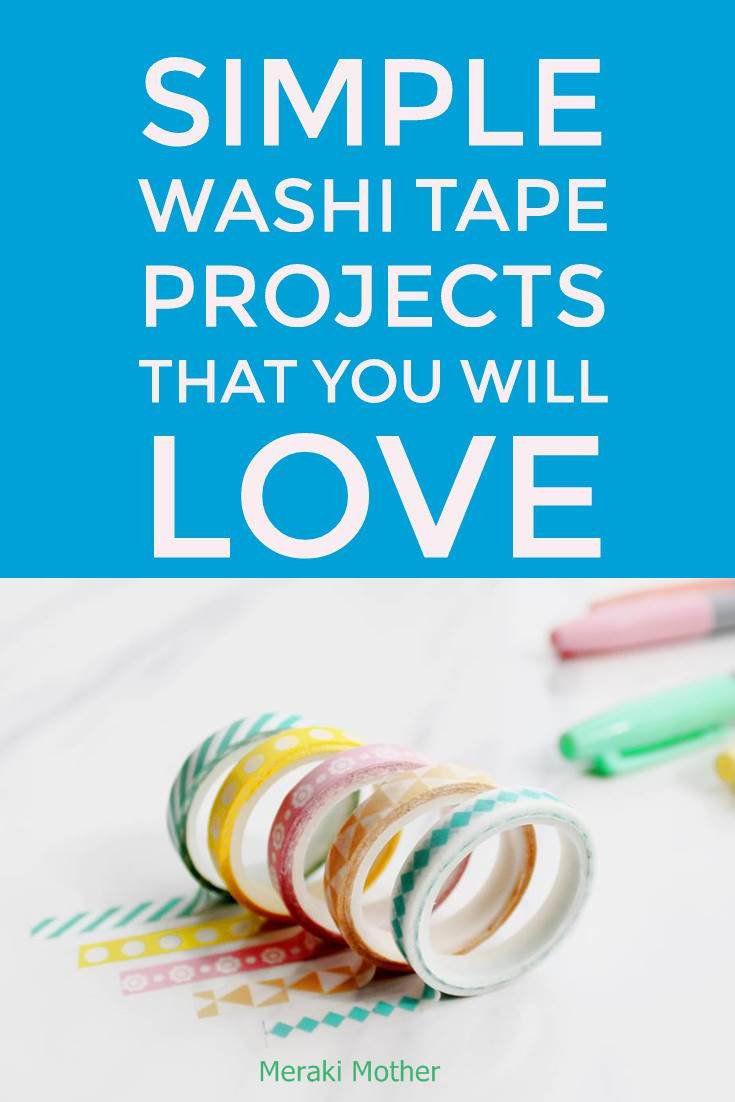 washi tape home decor