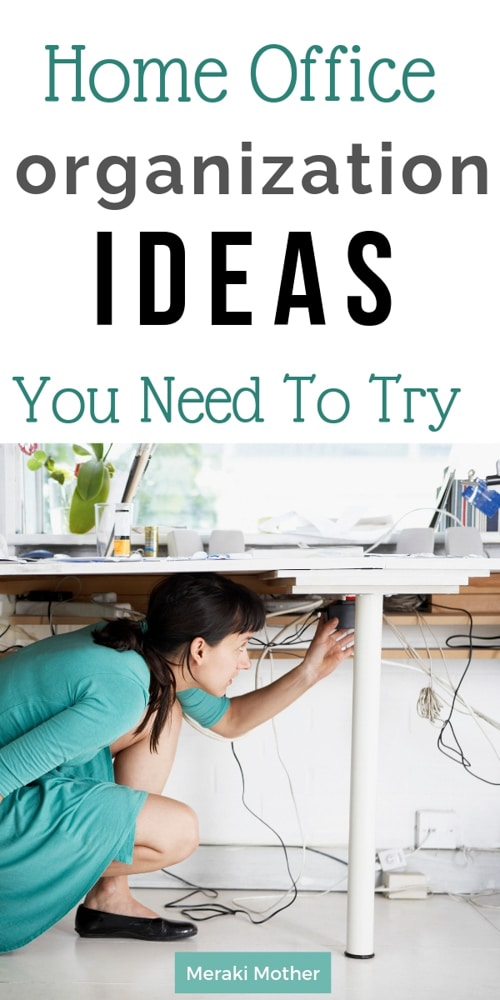Easy Home Office Organization Ideas You Need To Try. How To Organize Your Home Office Without Spending A Fortune.