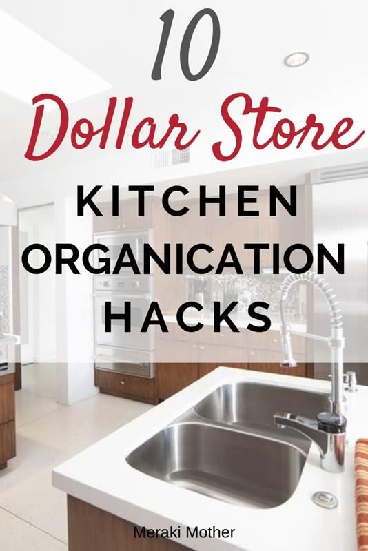 dollar store kitchen organization hacks