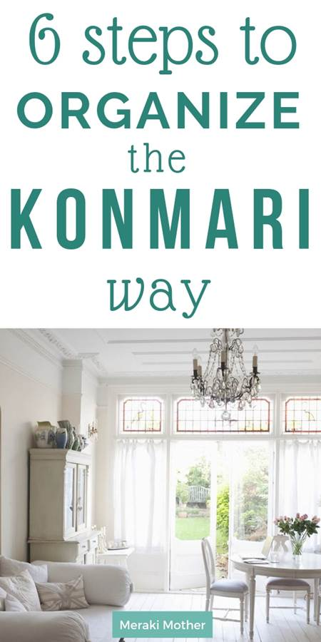 how to organize the konmari method way
