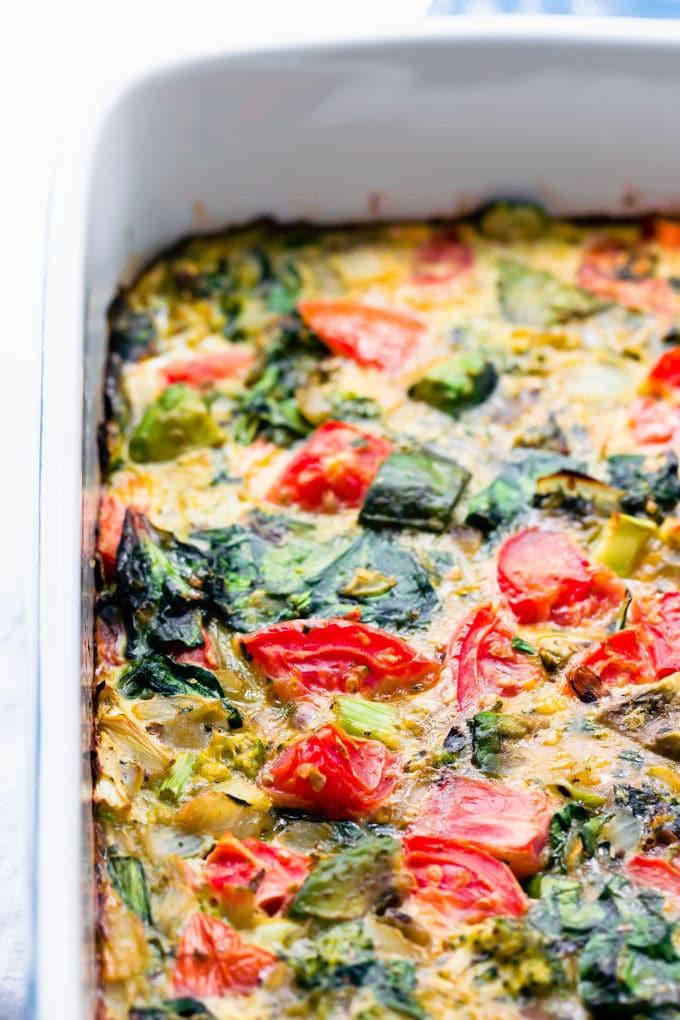 Vegetarian Keto Breakfast Casserole