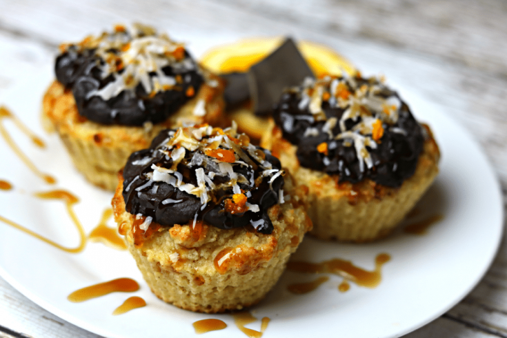 Keto Orange Muffins with Orange Chocolate Glaze