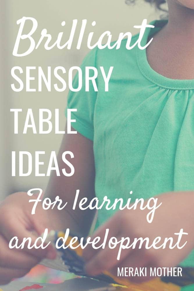 Find over 11 sensory table and bin ideas your child will love. Big sensory bin, ocean sensory ideas and lots more #sensory #sensoryplay #sensorybins #sensorytable #sensoryactivities #sensorytablefortoddlers #sensorytableforpreschool