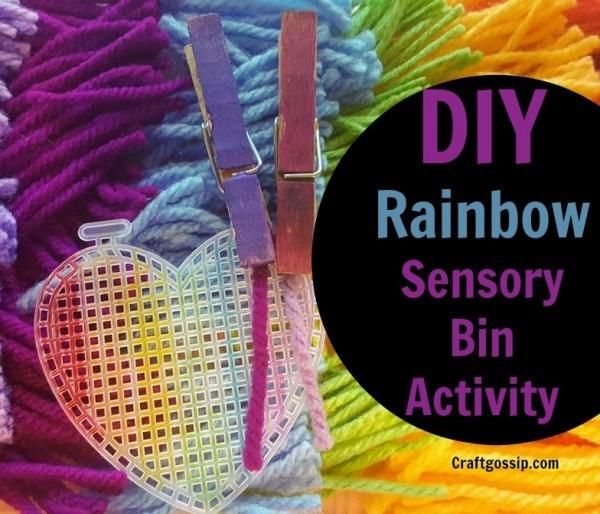 Rainbow Sensory Fine Motor Skills Activity