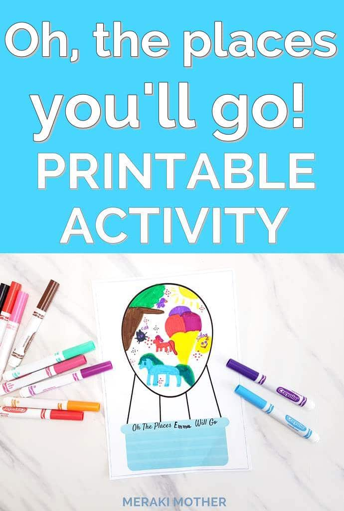Oh, the places you'll go printable activities.