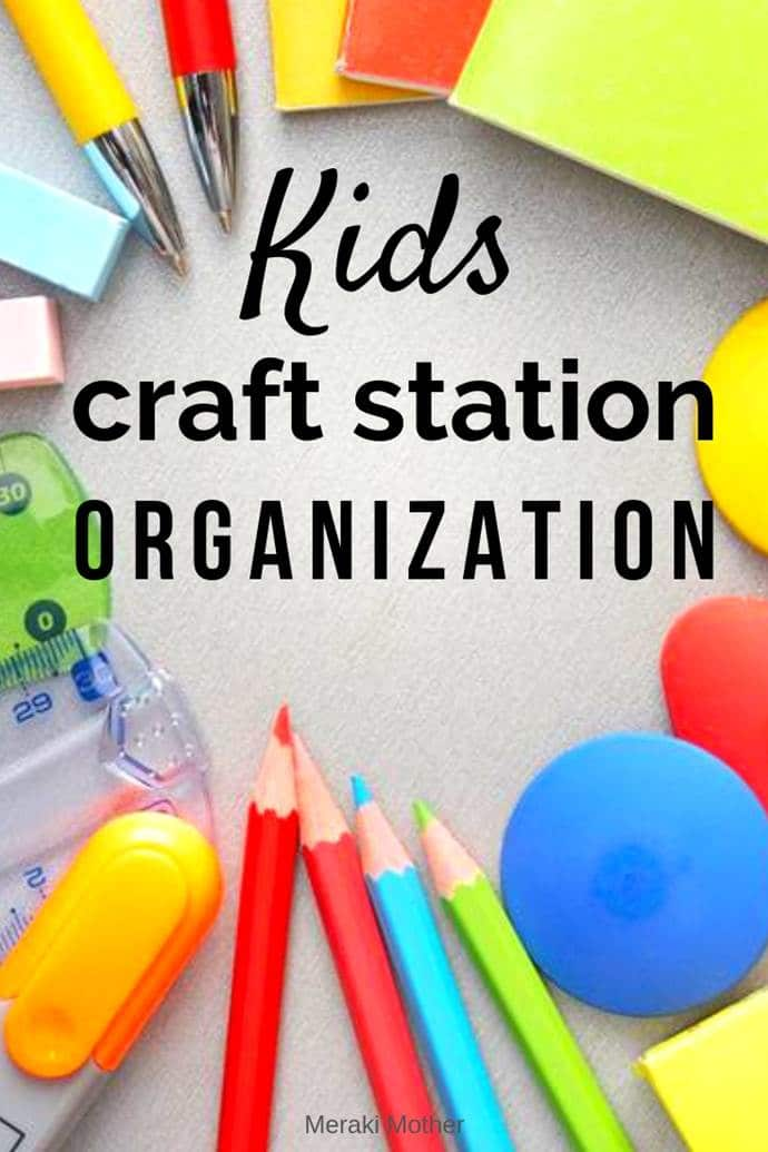 how to keep kids crafts supplies organized