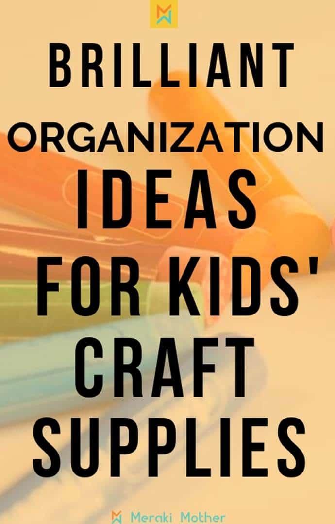 kids craft supply organization