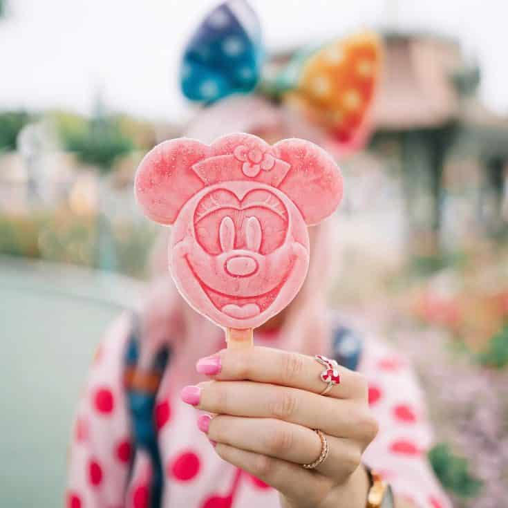 Peach & Raspberry ice pop