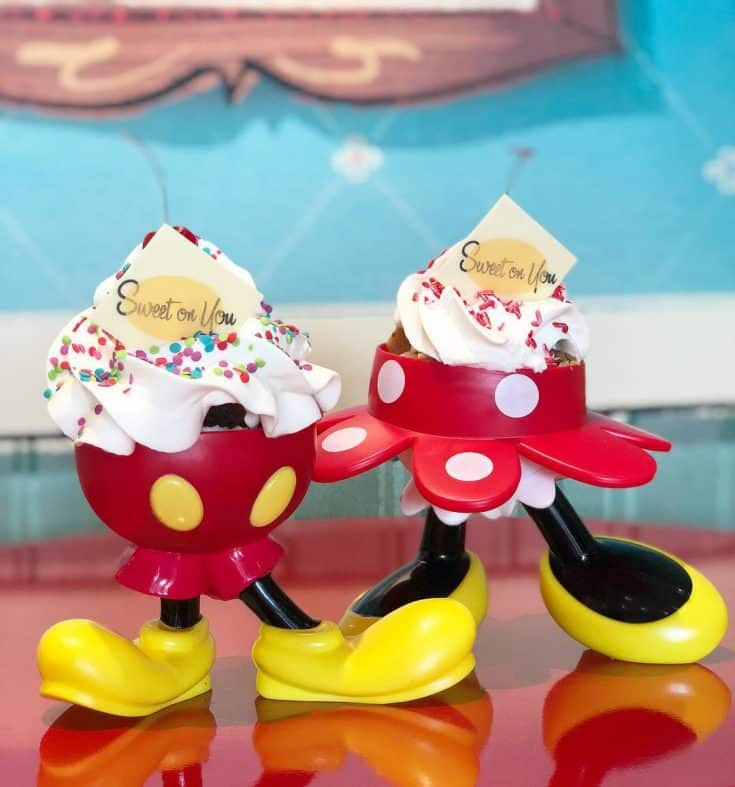 Minnie and Mickey Mouse Sundaes