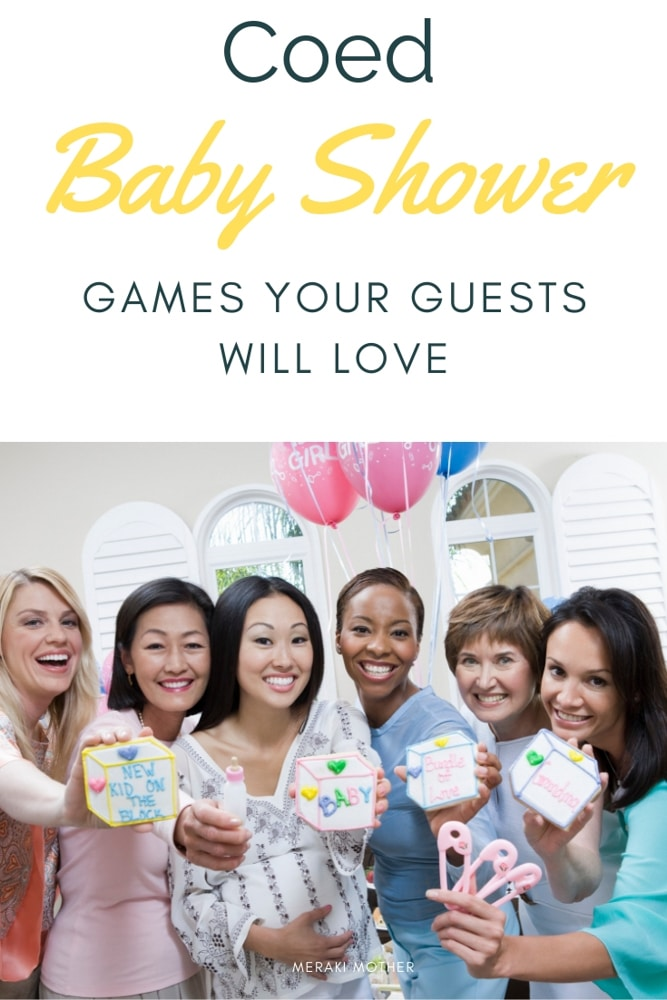 Need some unique coed baby shower games? The guests will love playing these 10 baby shower games.#pregnancy #babyshower #babyshowergames #babyshowerideas #babyshowergameideas #easybabyshowergames